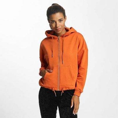 Oranje sweatshirt met capuchon