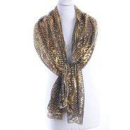 Goudkleurige tulen sjaal