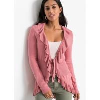 Roze vest met volants