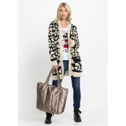 Beige vest met luipaardprint