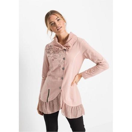 Roze vest met knopen