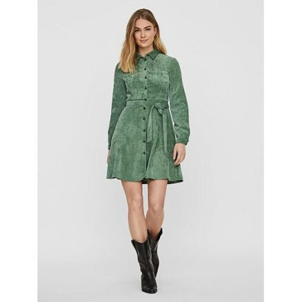 Groen corduroy jurkje