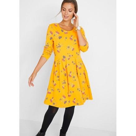 Gele swing jurk