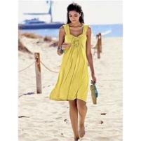 Gele jurk met kant