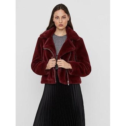 Rood faux fur bontjasje