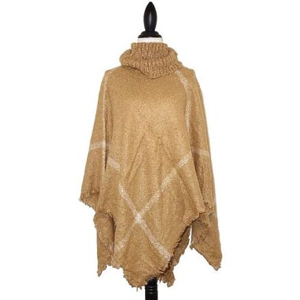 Poncho met col