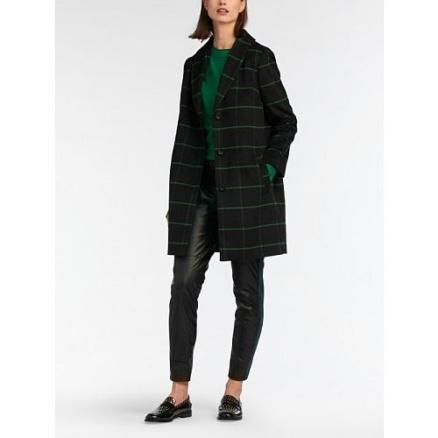 Groen geruite jas