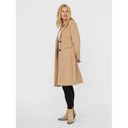 Lange beige jas